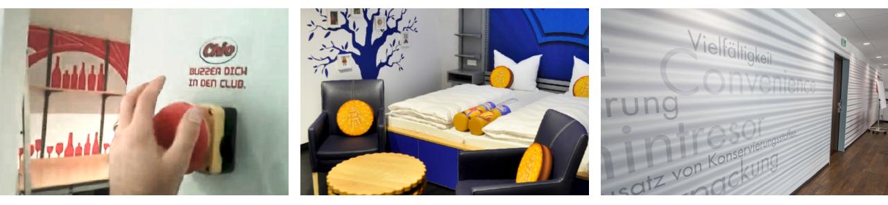 Bilder von den Themen-Zimmern im food Hotel