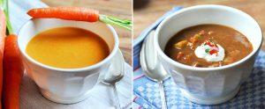 Zwei verschiedene Suppen