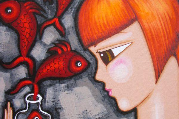 Bild von Frau und Fisch