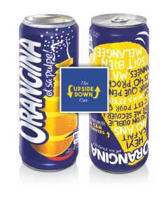 Upside Down Can von Orangina