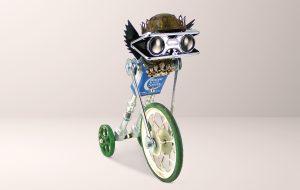 Roboter aus Dose mit Rad