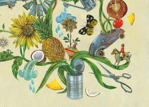 Illustration der Dose im Recyclingkreislauf
