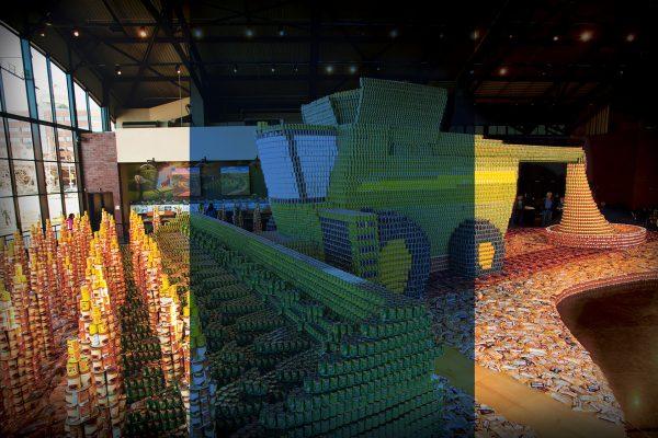 Weltrekordwerk von John Deere. Genug Dosen für 180.000 Mahlzeiten